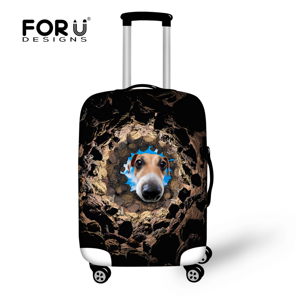 New 3D Animal Dog Printing Travel Luggage Cover,Anti-dust Suitcase Cover to 18-28 inch Trolley Luggage Waterproof Baggage Cover