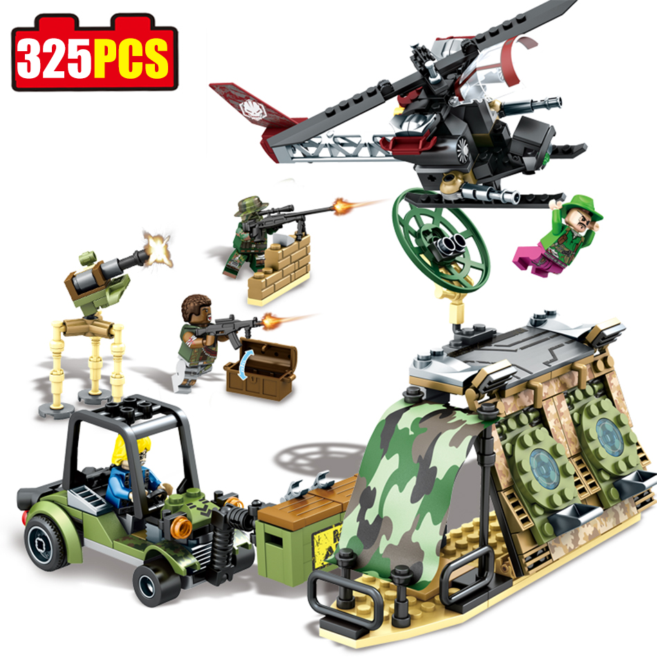 Sembo block 325pcs Black gold Combat troops building blocks Compatible Legoed military Aircraft Helicopter enlighten toy for kid аминокислоты ultimate nutrition amino gold formula 325 таб