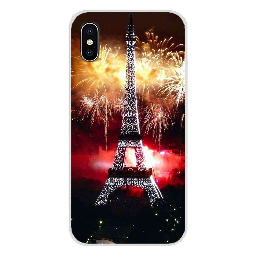 Романтичный Париж Эйфелева башня ТПУ прозрачные чехлы для Xiaomi Mi6 A1 5X 6X Redmi Note 5 5A 4X 4A 4 3 Plus Pro pocophone F1