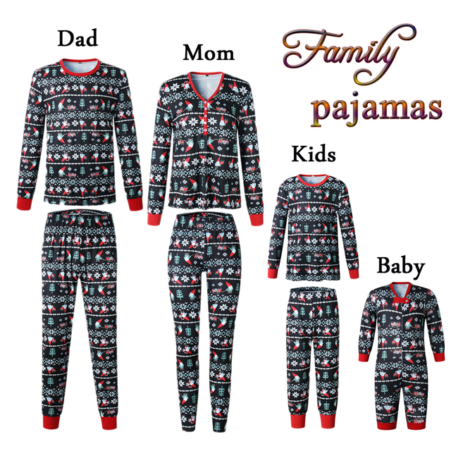 5d94954bb0 2018 Christmas Family Matching Outfits Dad Mom Sisters Brothers Pajamas Set  Cozy Clothing Family Look Sleepwear Nightwear Outfit