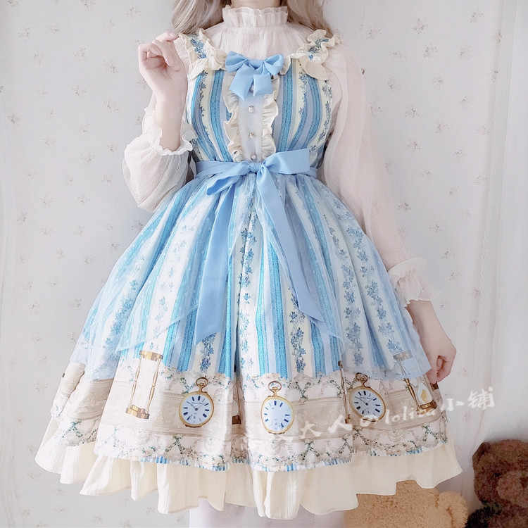 Japanese sweet lolita dress vintage lace bowknot cute printing victorian dress kawaii girl gothic lolita jsk/op princess loli