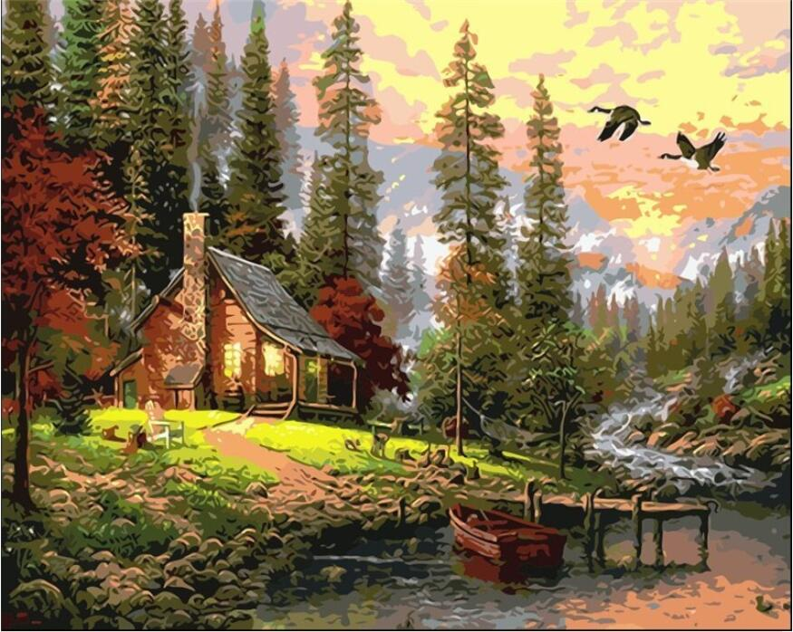 DIY Oil Painting By Numbers No Frame Drawing Kits Paint On Canvas Painting Home Wall Art Picture Unique Gift GX8499