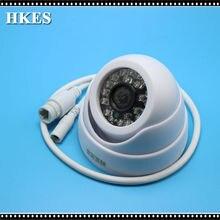 HKES 4pcs/lot HD H.264 Onvif 1.0 Megapixel Indoor IP Camera 24IR LED Dome Network Wired IP Camera CCTV