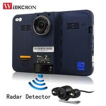 Winkcron New GPS Navigation Android 7″ Car DVR Rear view camera Car Radar detector FHD1080P auto camera G-Sensor 16GB free map
