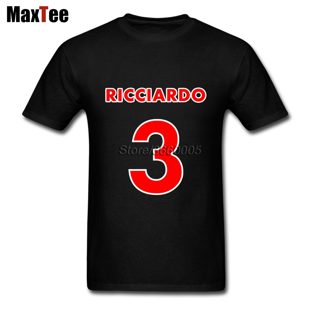 Mens Featured Racer Daniel Ricciardo 3 Shirt Short Sleeve Fashion Designer T-Shirts Family Large and Tall