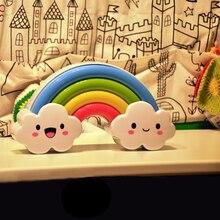 Rainbow Light Sound and light control Nightlight creative wall stickers children's room bedroom bedside nursing in