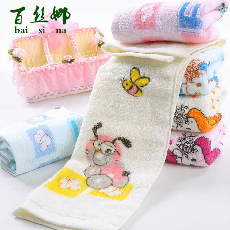 Square Baby Towel Pure Cotton Children Face Towels Soft Handkerchief Bath Towel For Newborns Infants 25*50cm
