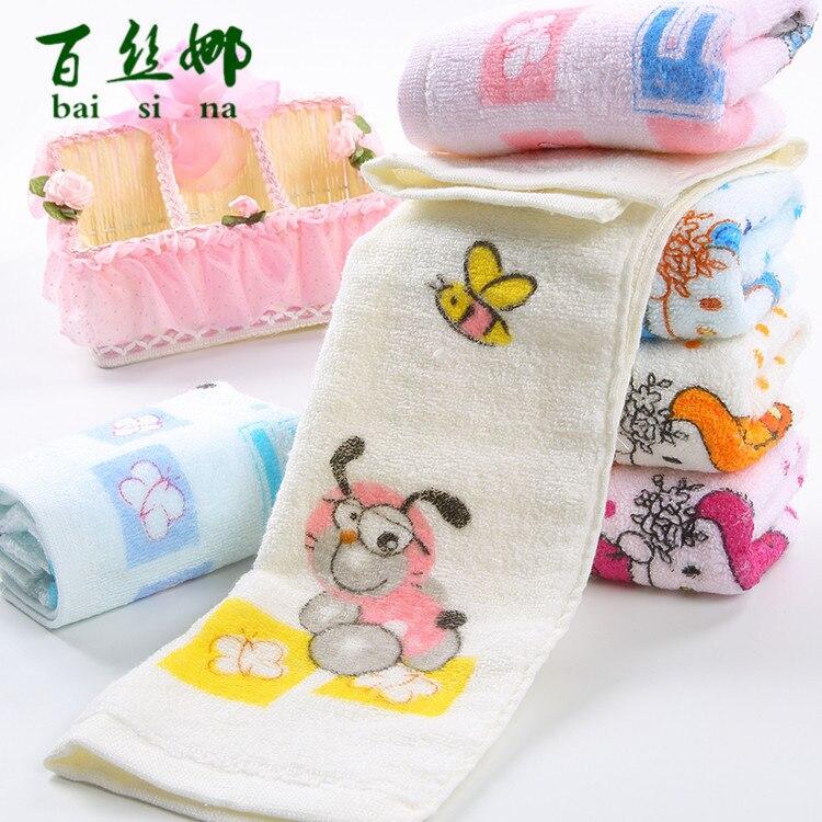 Square Baby Towel Pure Cotton Children Face Towels Soft Handkerchief Bath Towel For Newborns Infants 25*50cm