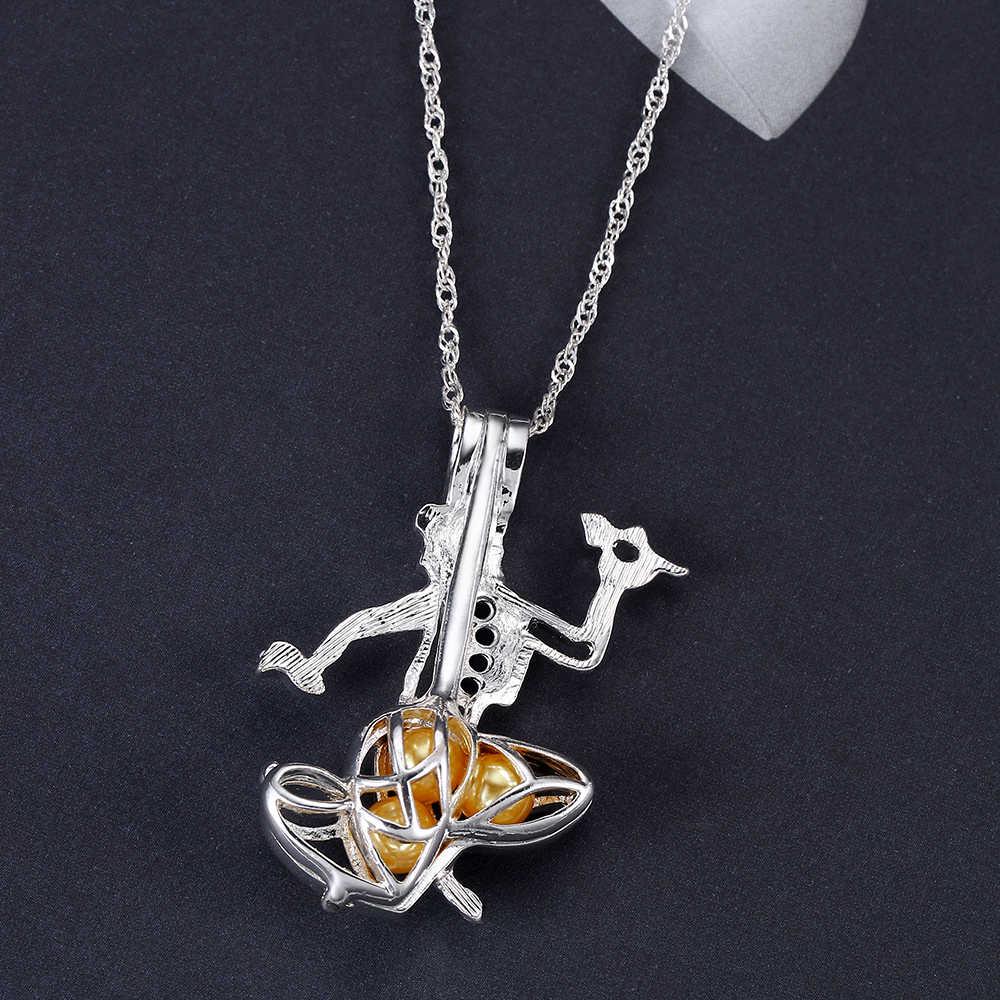 Aladding โคมไฟ Pearl สร้อยคอน่ารักจี้ผู้หญิงอุปกรณ์เสริมเครื่องประดับอินเทรนด์เงิน Choker Custom สร้อยคอ