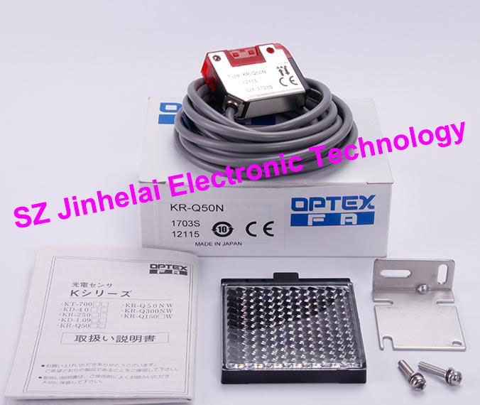 New and original  KR-Q50N  OPTEX   PHOTOELECTRIC SWITCH   NPN OUTPUT 100% new and original fotek photoelectric switch mr 10x npn