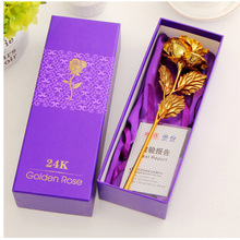 Лучший подарок для девушки Золотая Роза свадебное украшение золотой цветок подарок на день Святого Валентина золотой розовый золотой цветок с коробкой-15