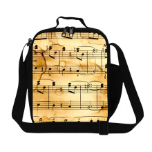Dispalang musical note cooler bags patterns thermal lunch bags for men adults minecraft lunch bag children picnic food lunch box