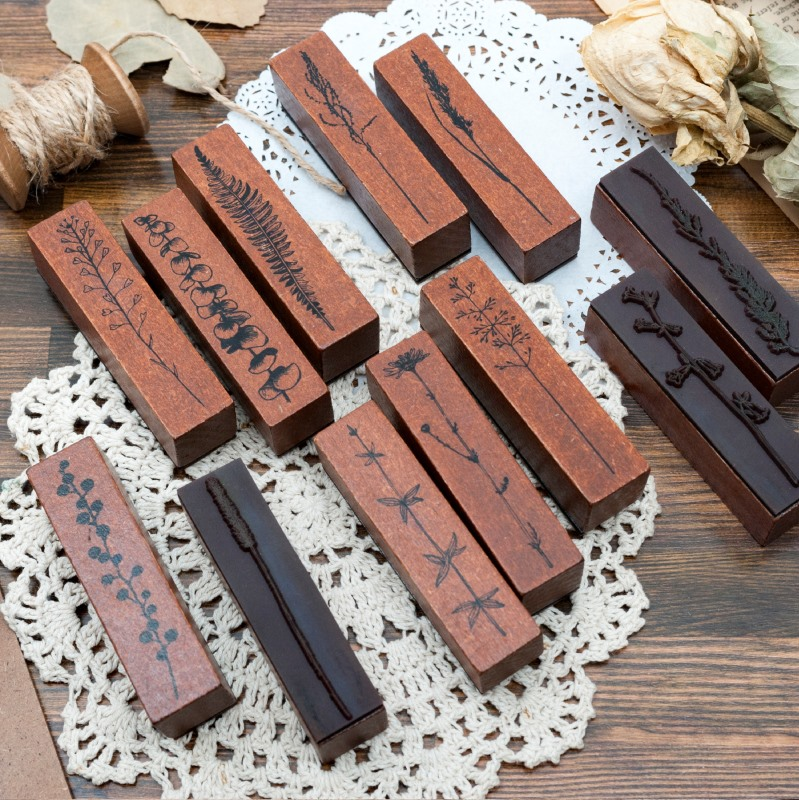 Everything Growth Series Diy Wooden Rubber Vintage Stamps Seal For Scrapbooking Student Prize Promotional Stationery