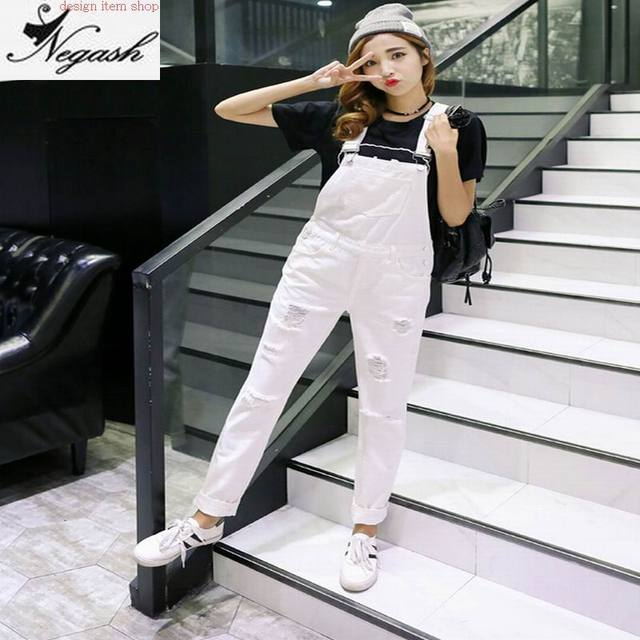 d76960c8cbf4 BF Jeans Jumpsuit Mori Girl Preppy Style Spring Women s Denim Jumpsuits  Overalls Pants Ladies Jeans Suspender Gallus Rompers