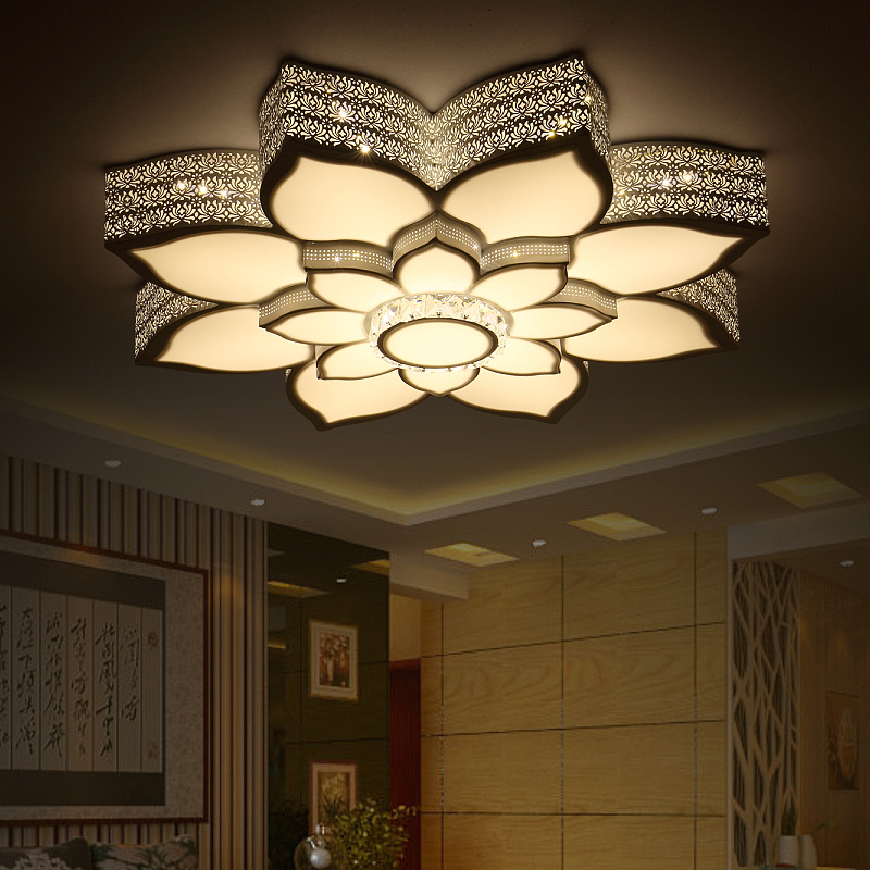 Modern crystal Led Ceiling Lights Surface Mounted luminaria For Living Room bedroom Ligh ...