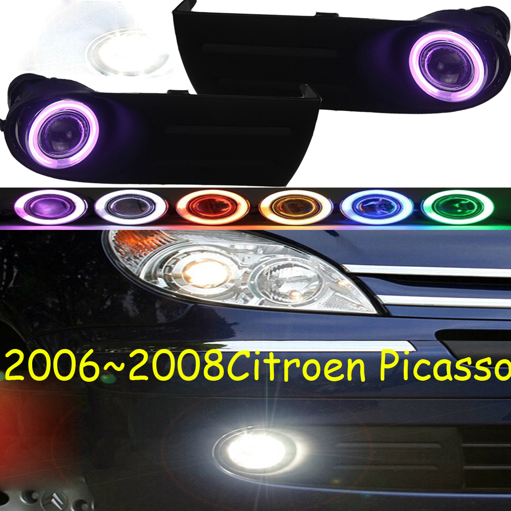 2006~2008 Picasso fog light,Free ship!halogen,Picasso headlight,xsara,c4 picasso,c5,Elysee,Picasso day lamp picasso picasso ps916f light blue
