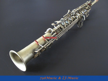 NEW Professional Bb Soprano Saxophone Antique Brass With Case