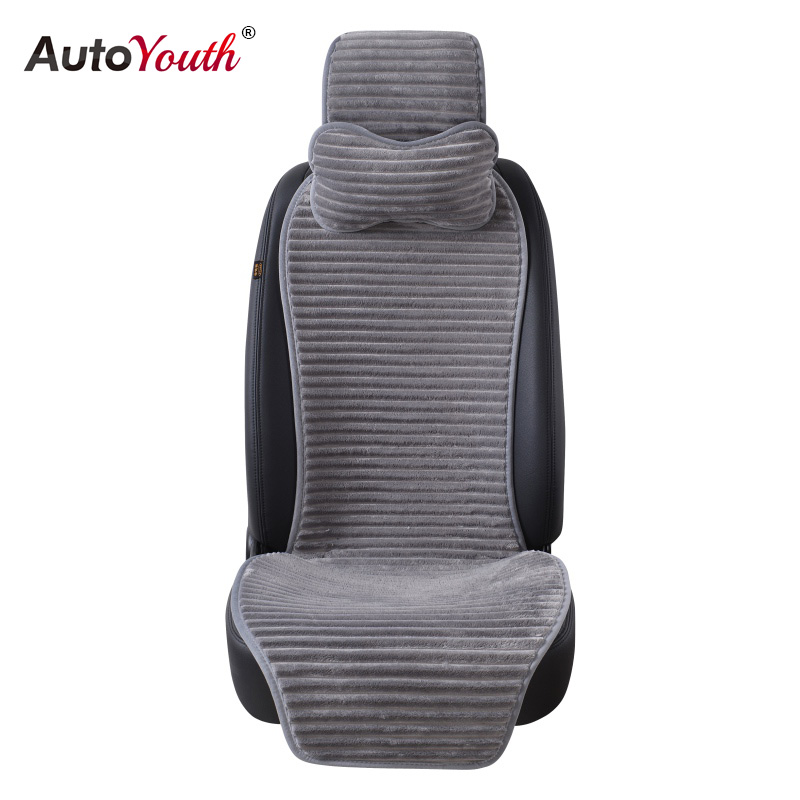 AUTOYOUTH New Winter Nano Velvet Car Seat Cover With Headrest 5 Colored Universal Car Seat Cushion Protector Car-Styling universal car seat cover fiber linen front cushion 3d car styling seat covers automobiles for toyota for hyundai 1pcs 3 colored