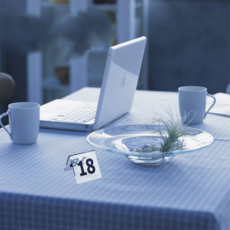 New Double Sides Clear Acrylic Restaurant Table Number Card Holder Digital  Card Seating Card Desk Card