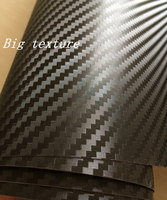 Premium big texture 3D Carbon Fibre Vinyl Car Wrap Film With Bubble Free 3d Carbon Fiber Sheets sticker Foil size 1.52x30m/Roll