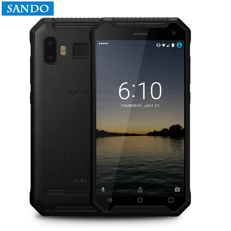 Jeasung P8 прочный смартфон, 4 ядра MTK6737, Android 7,0, 4/32 ГБ, 5000 мАч Батарея мобильный телефон с отпечатков пальцев