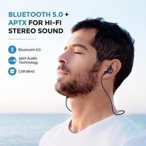 Image 4 - Mpow S11 APTX Bluetooth 5,0 Kopfhörer Magnetische Design IPX7 Wateproof 9H Spielen Zeit CVC 6,0 Noise Reduktion Für Sport smartPhone