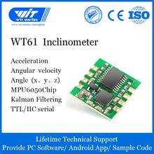 WitMotion WT61 AHRS MPU6050 6 Eksen Modülü Dijital İnklinometre, 3 Eksenli Ivmeölçer + Jiroskop, eğim Açısı ve Titreşim Ölçü