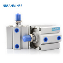 NBSANMINSE SDA80 With Magnet Compact Cylinder AirTAC Type Double Acting Cylinder Pneumatic Parts Air Cylinder