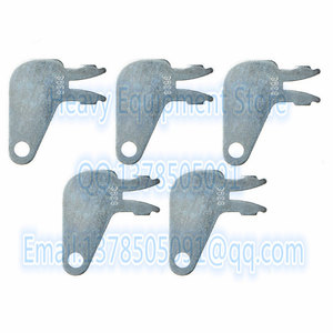 5 PCS 8398 8H5306 8H-5306 New Aftermarket Forked Keys for Caterpillar Switch 7N0718 Master Disconnect Key(China)