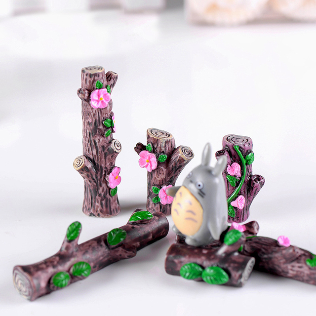 Best Sale 37ca 3pcs Flower Tree Stump Bonsai Figurines Fairy Garden Miniatures For Terrariums Ornament Home Decor Resin Craft Cicig Co