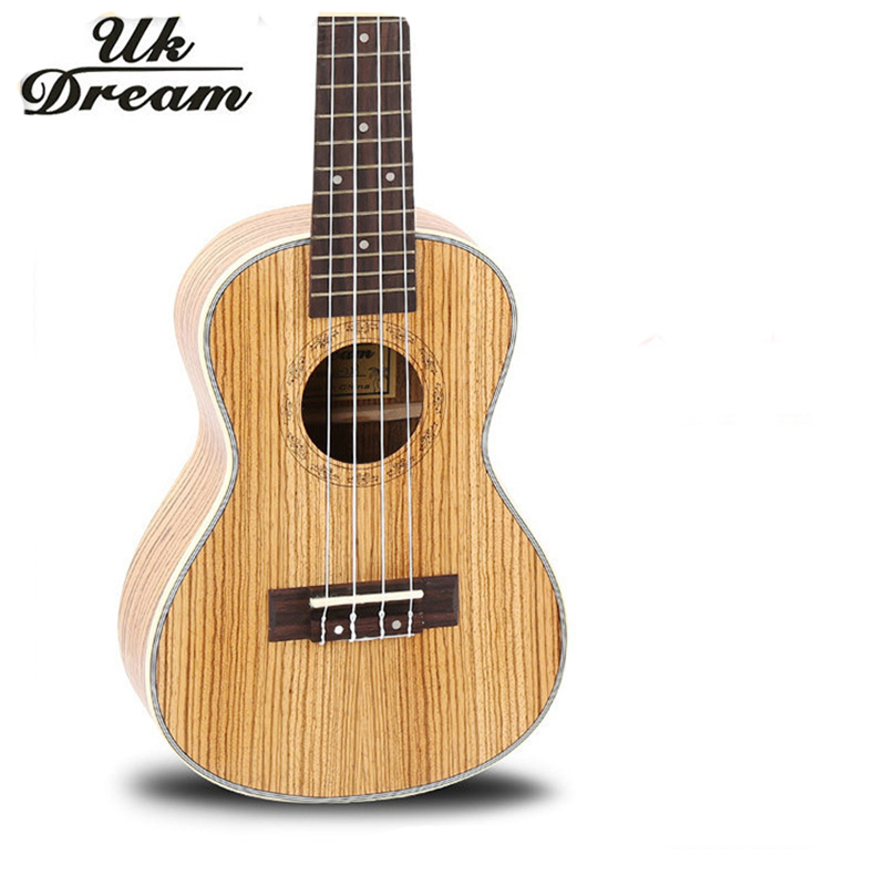 23 Inch Small Hawaii Professional Musical Instruments Arched Acoustic Guitar Full Zebrano Small Ukulele Guitar 18 Frets UC-223 12mm waterproof soprano concert ukulele bag case backpack 23 24 26 inch ukelele beige mini guitar accessories gig pu leather