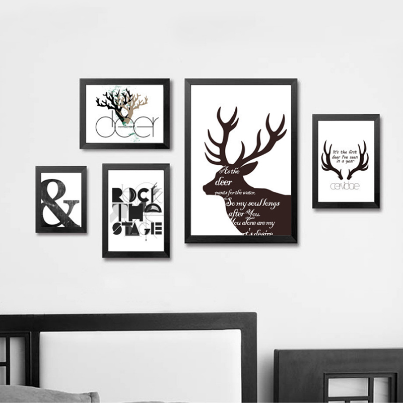 Minimalist nordic deer canvas pop wall art canvas posters and prints paintings wall pictures for living room home decor no frame in painting calligraphy