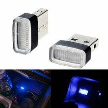 JURUS Mini Car USB LED Atmosphere Light Decorative Lamp Auto Interior Lighting Disco Magic Stage Effect Foot Lights Car-Styling