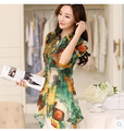 The new 2016 women cultivate one's morality big yards chiffon blouse Cool snow spins unlined upper garment with Pure silk