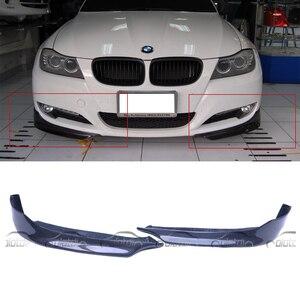 OLOTDI Car Tuning Carbon Fiber Front Pieces Splitter Bumper Corner Lip for BMW E90 LCI OEM 2009-2011 2 pcs/set OLOTDI