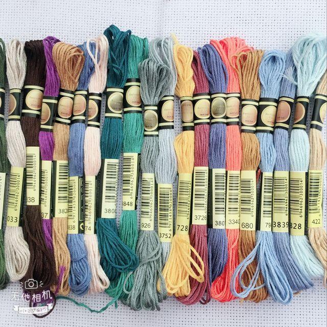 Oneroom 50/100/150/250 Màu Sắc DMC Tương Tự Như 100% Cotton Thêu Chủ Đề Bộ Dụng Cụ cho Cross Stitch Mouline 6 Strands Xỉa 8 m