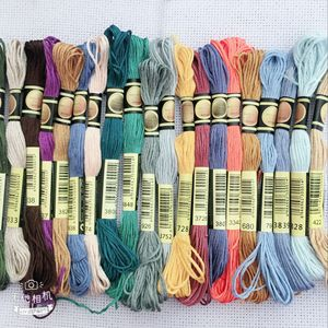 oneroom 50/100/150/250 Colors DMC Similar 100% Cotton Embroidery Thread Kits for Cross Stitch Mouline 6 Strands Floss 8m(China)