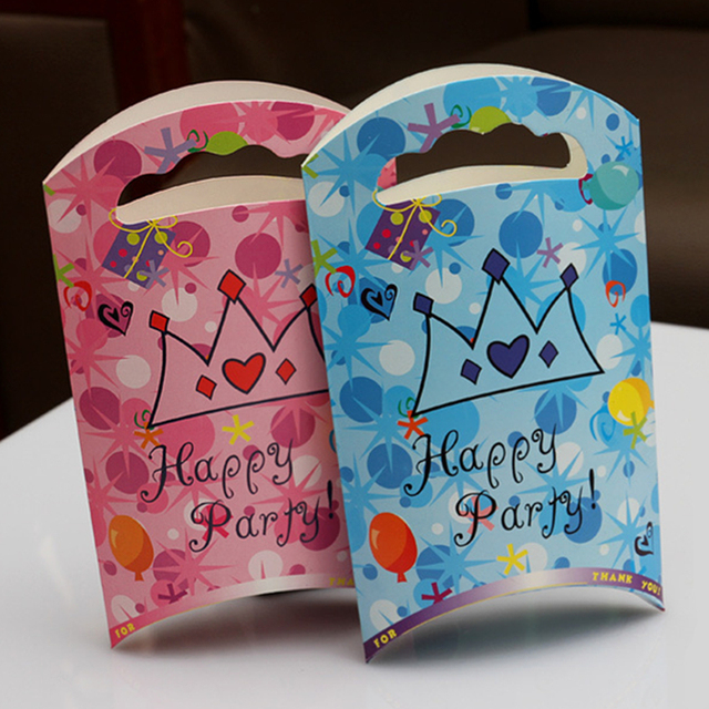 20pcs Baby Shower Candy Box Child Kids Birthday Party Boxes Favors Gift Bag Mini Paper