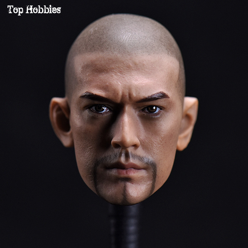 1/6 Scale Male Head Sculpt Carving Model Asian star Jinchengwu Bald Shaven Beard Version For 12inch Man Action Figure Body Toys hot toys 1 6 the avengers star lord 2 0 chris pratt head sculpt man head carving fit for 12 male action figure body accessory