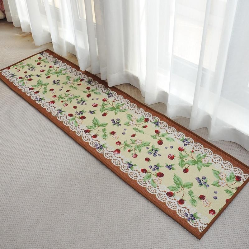 Various Designs Carpet Washable Kitchen Rug Beautiful Lobby Mat  45*120cm(China (Mainland