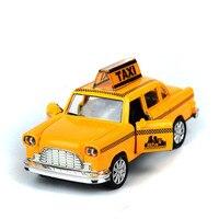 ادا سمارا الطفل اللعب مصغرة معدن السيارات الكلاسيكية نموذج 1:32 مصغرة فاز oyuncak تحصيل نموذج الأصفر تاكسي سيارة هدية عيد