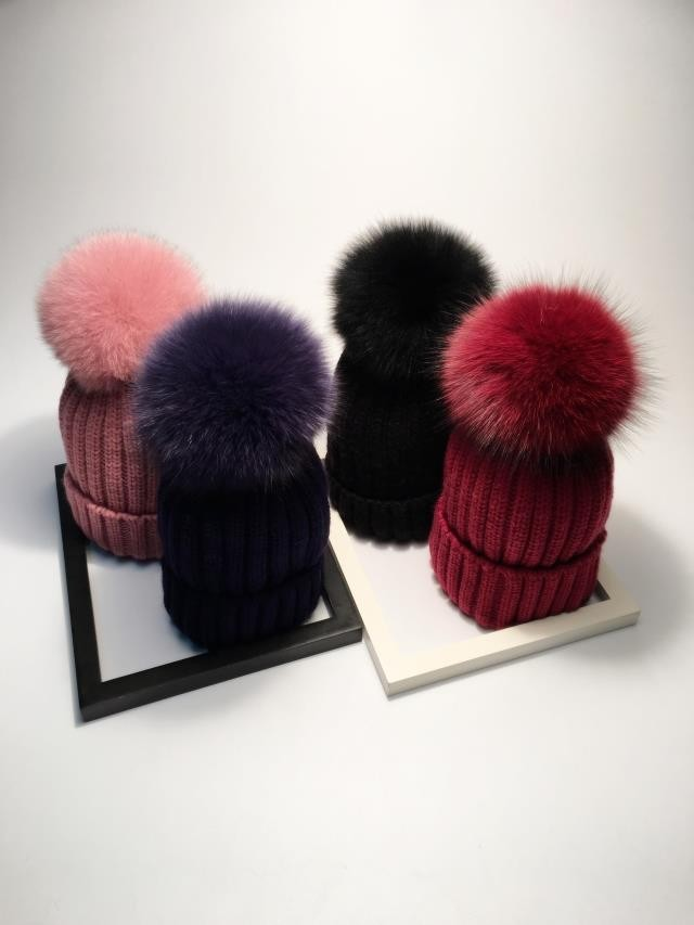 pompom hat fur hat winter hats for women knitted hat winter beanie hat women hat (1)