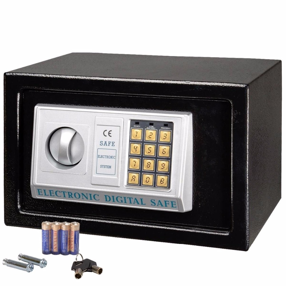 Digital safe box Coffer for Home Office use Safety Security Box keep Cash Jewelry or Documents