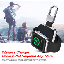 Portable Min QI Wireless Charger 950mah Power Bank for Apple Watch Outdoor Mini Charger For Apple Watch 1 2 3 4 Series сейф книга эврика капитал 94176