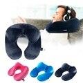 En forma de U almohada de viaje de avión inflable cuello almohada de viaje ACCESORIOS 4 colores cómodas almohadas para dormir de textiles para el hogar