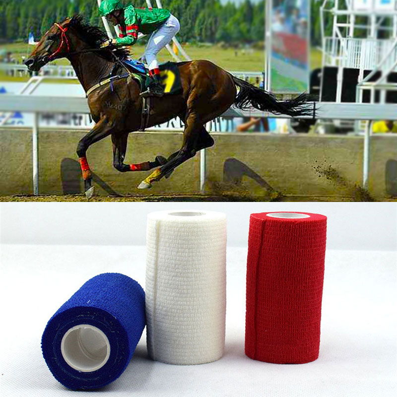 MOYLOR High Elastic Horse Racing Leggings Bandage Throwaway Stickiness Horse Legging Bandage Horse Riding Equipment Q ...