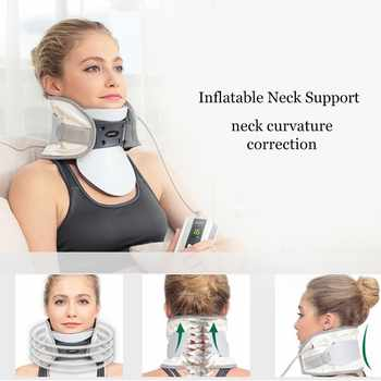 Adjustable inflatable Electric neck cervical traction neck support brace household massage Spondylosis Collar Hanging Neck frame