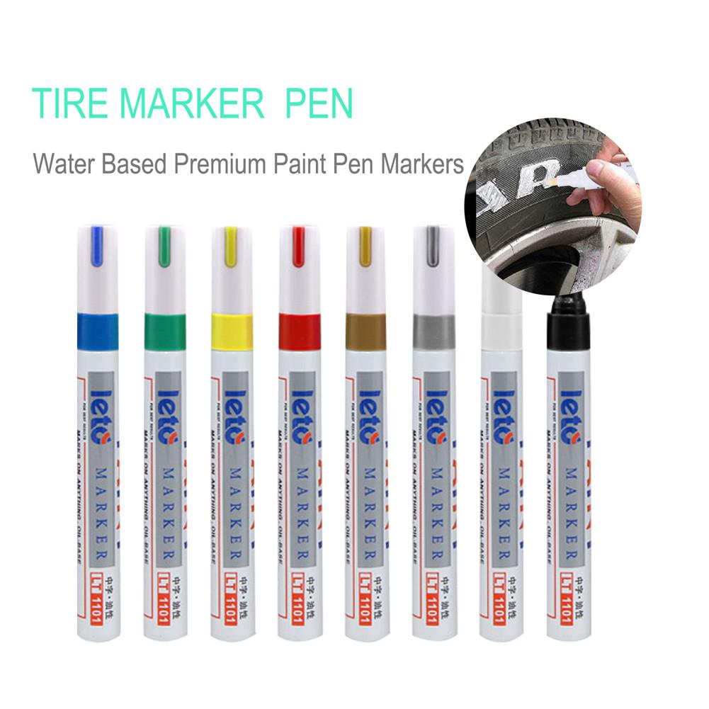 Lt1101 White Tyre Paint Marker Pens Waterproof Permanent Pen Fit For Car Motorcycle Tyre Tread Rubber Metal