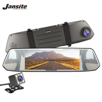 Jansite 7 Car DVR Dash Cam Touch Screen Camera Car Video Recorder Rear view camera Backup Dashcam Mirror support night vision