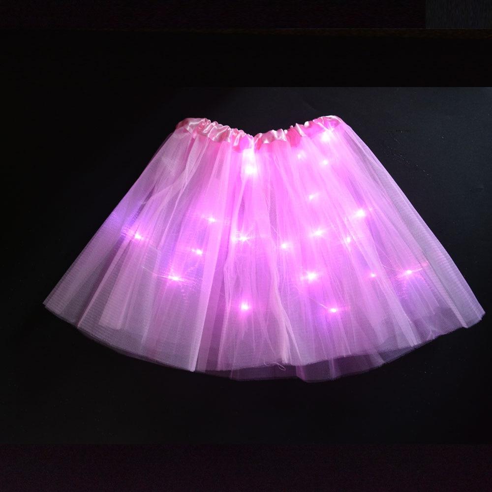 Mini LED Skirt Solid Color Neon Light Up Tutu Stage